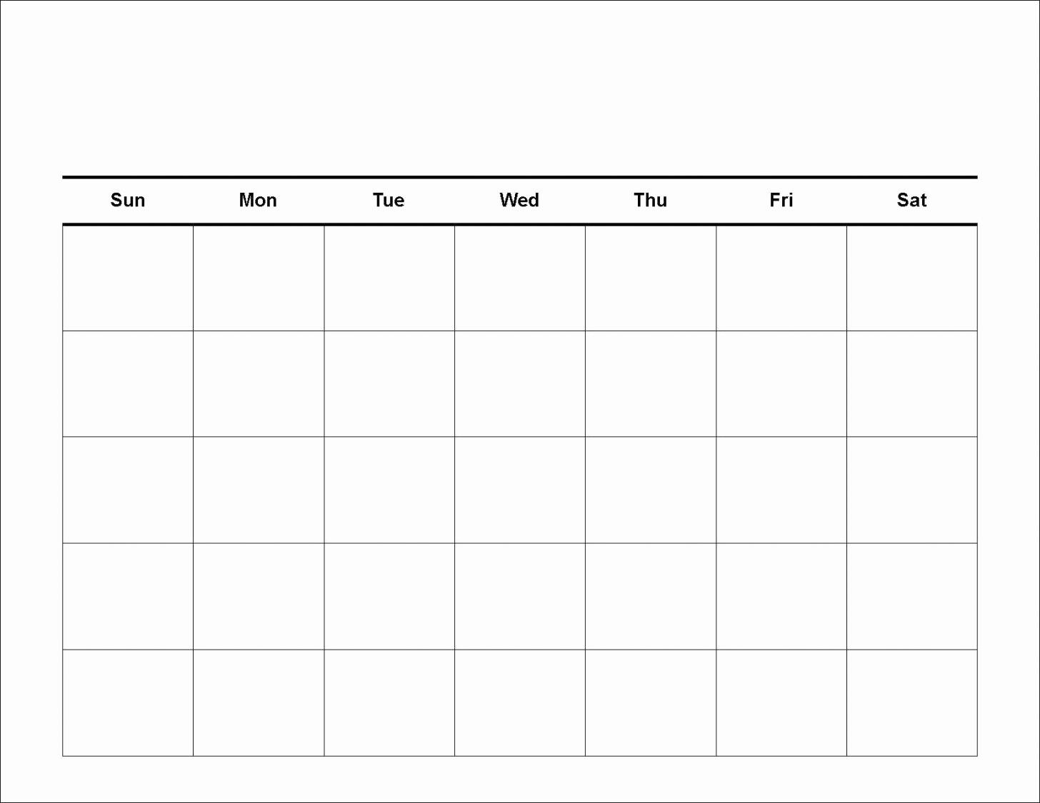 Printable Blank Monthly Calendar Template Lovely Printable Blank Calendar Template Monthly Word Pdf
