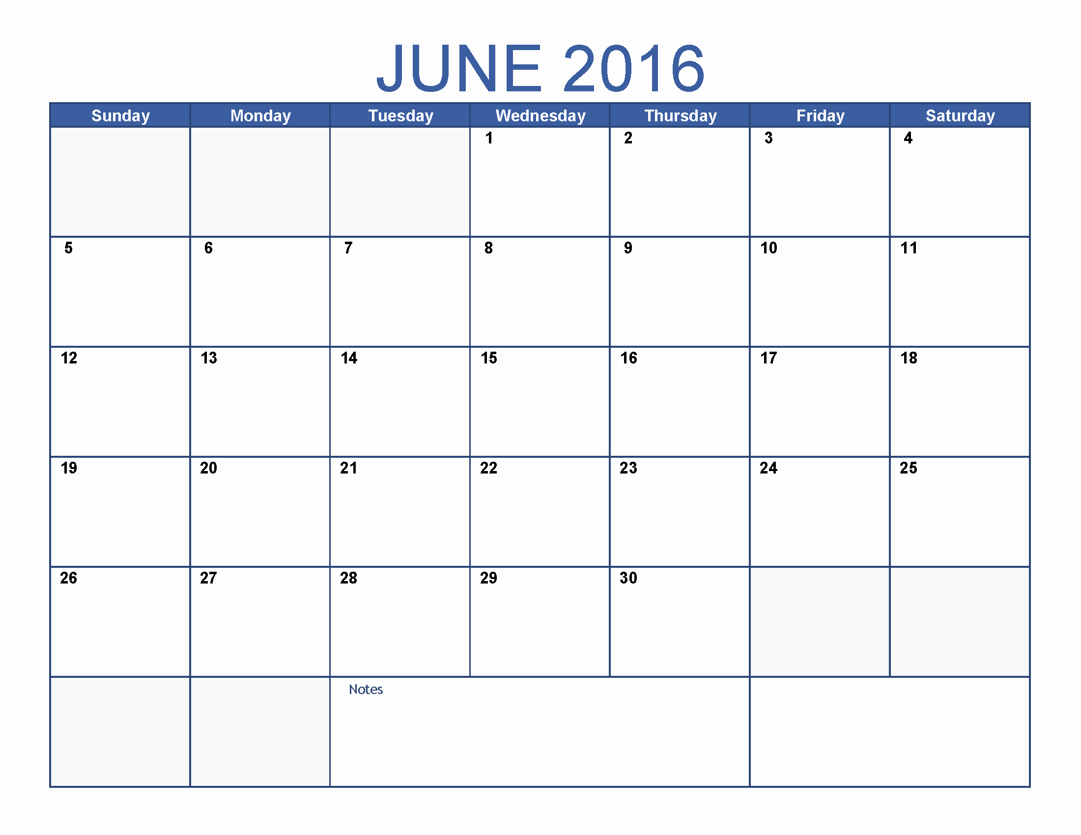 Printable Blank Monthly Calendar Template Luxury June 2016 Printable Calendar Blank Templates