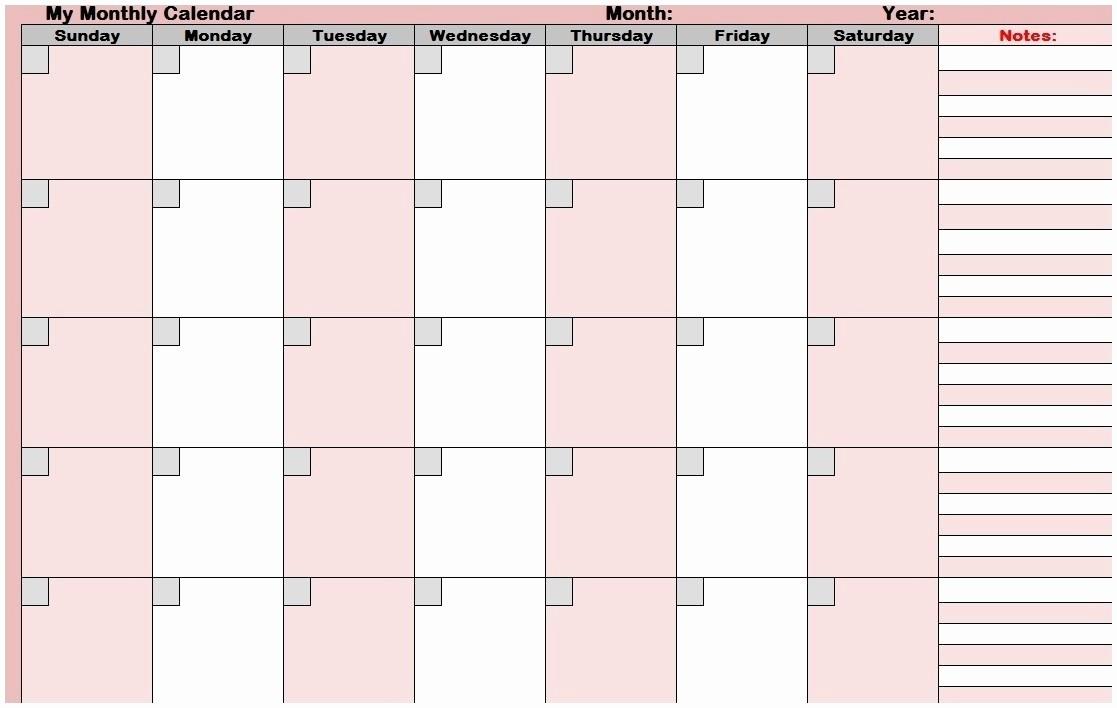 Printable Blank Monthly Calendar Template Luxury Kalender Juli August September 2018 – Template Calendar Design