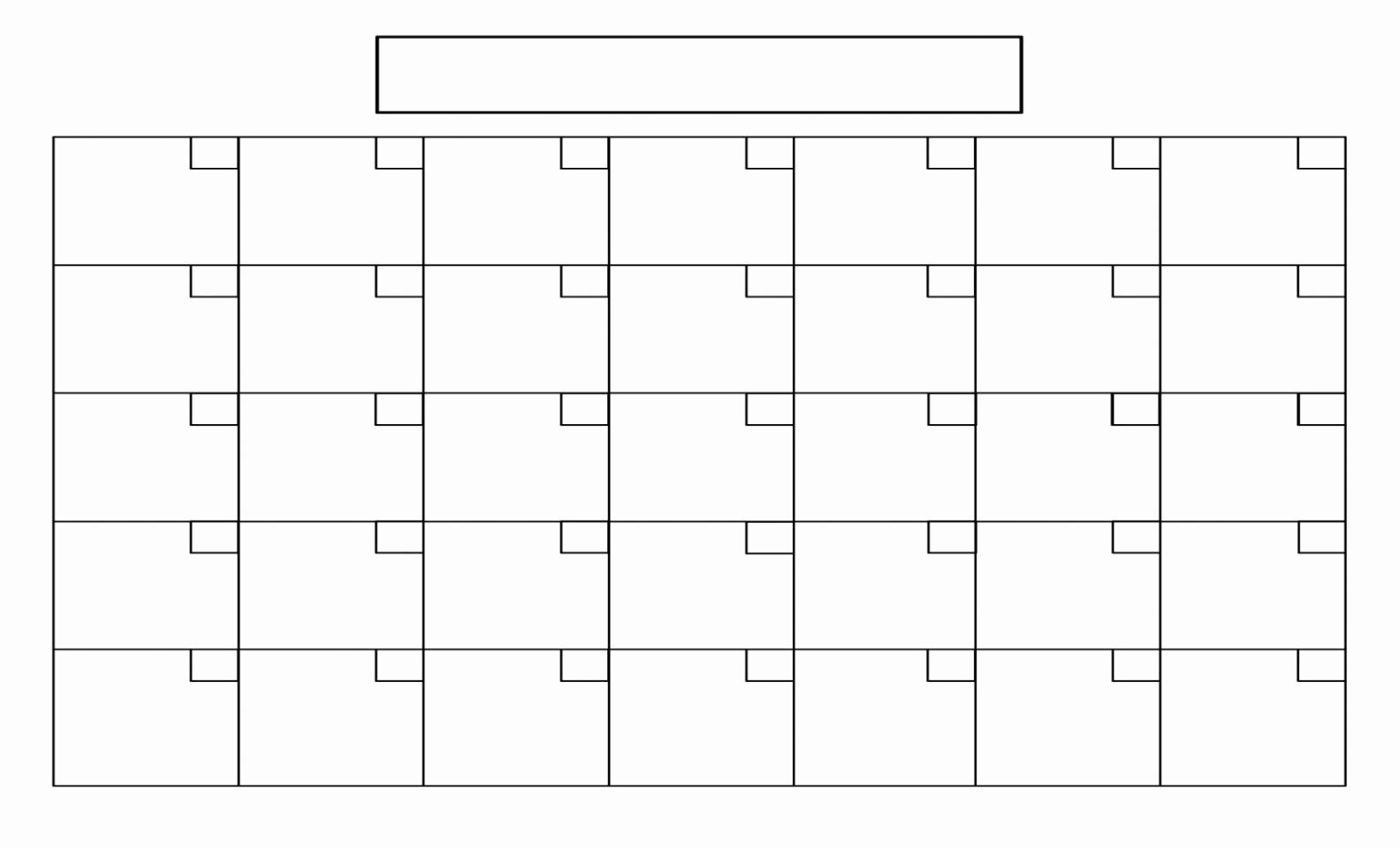 Printable Blank Monthly Calendar Template Unique Blank 12 Month Calendar Template 2017