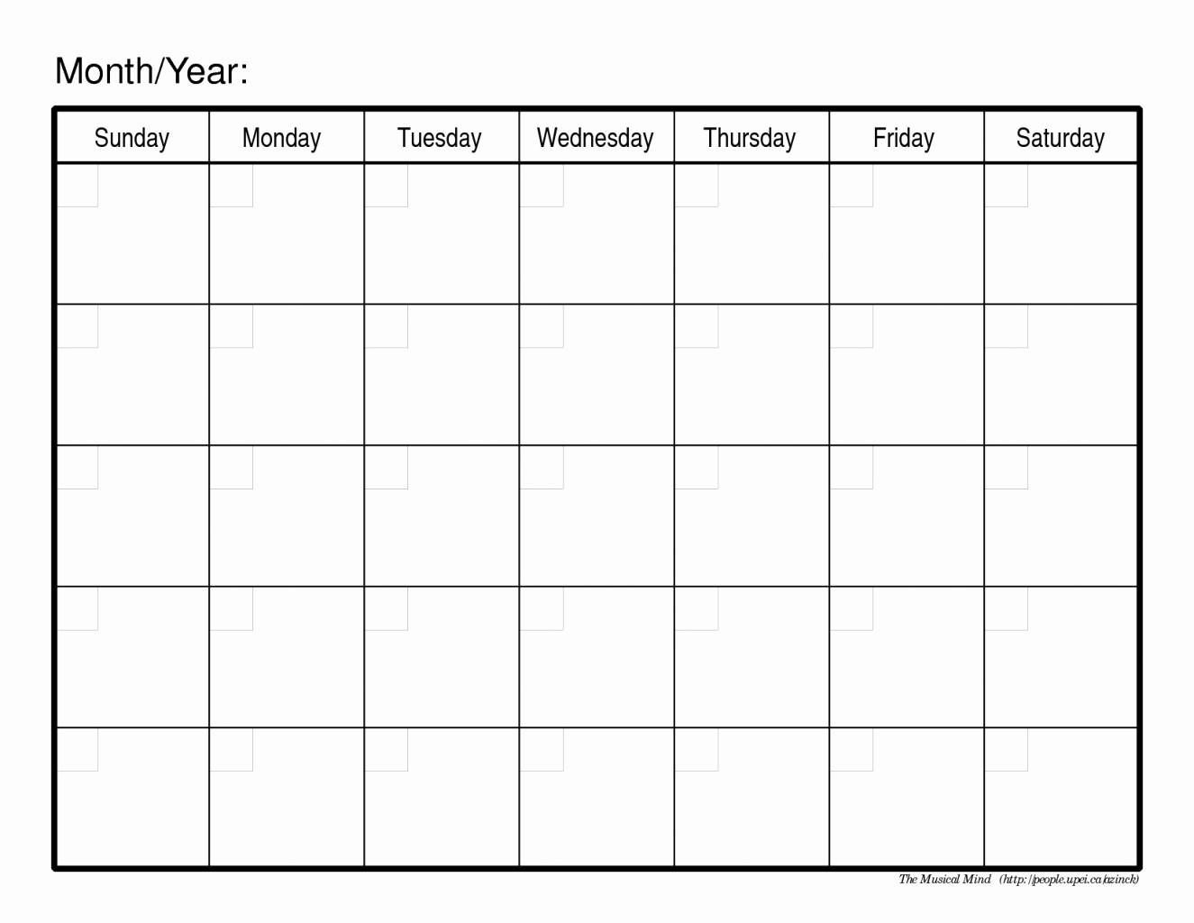 Printable Blank Monthly Calendar Template Unique Line Calendar Planner Printable