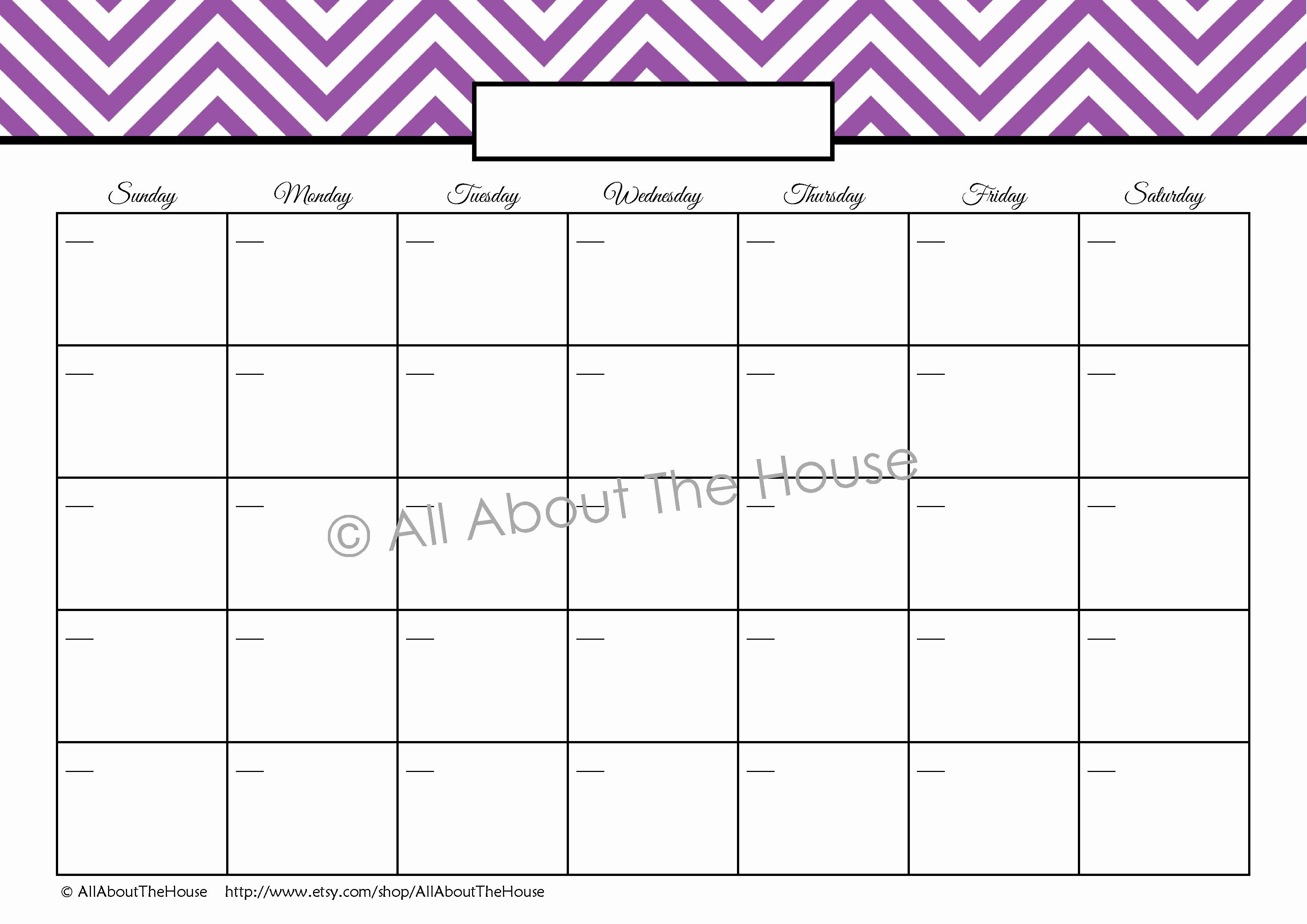 Printable Blank Monthly Calendar Template Unique Printable Weekly Calendar