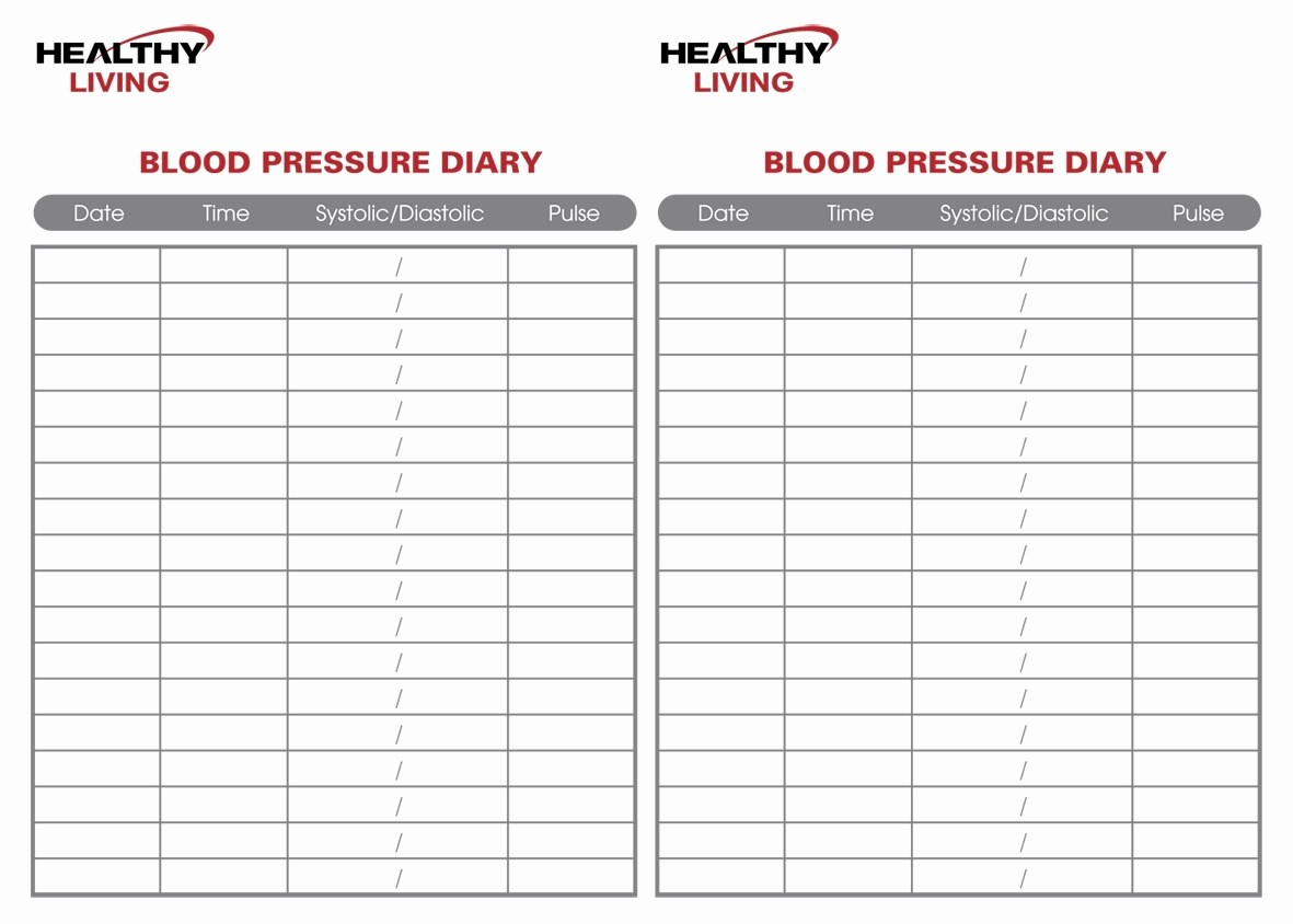 Printable Blood Pressure Chart Template Fresh Blood Pressure Chart