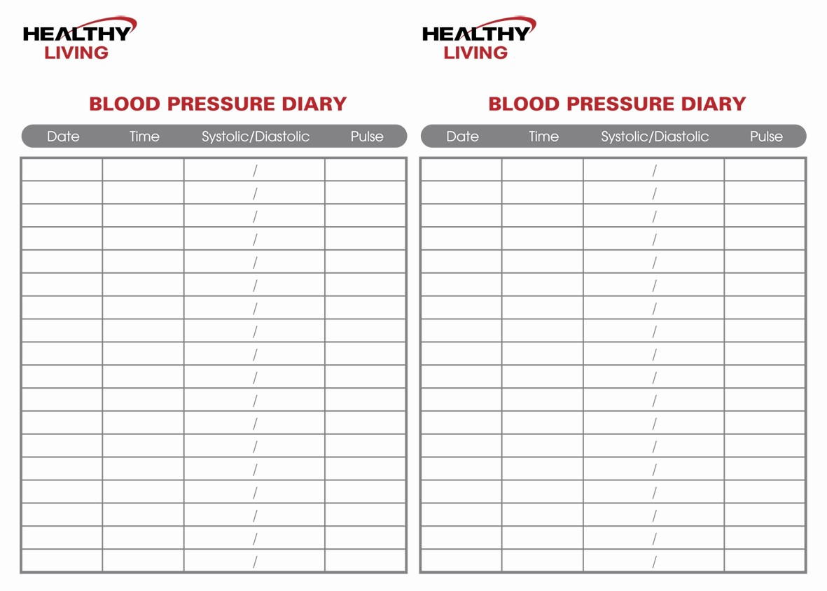 Printable Blood Pressure Chart Template Unique 19 Blood Pressure Chart Templates Easy to Use for Free
