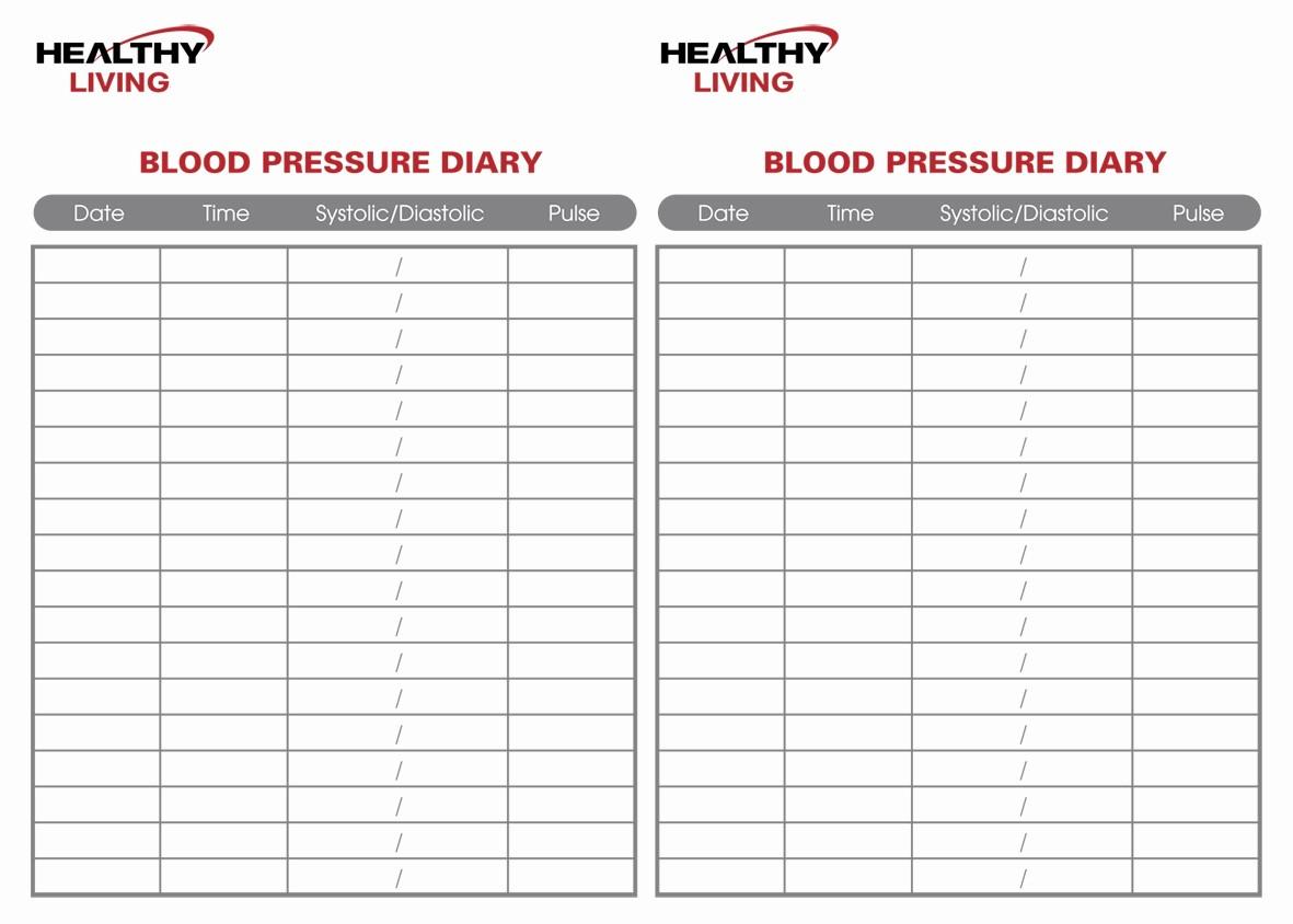 Printable Blood Pressure Chart Template Unique 19 Blood Pressure Chart Templates Easy to Use for Free