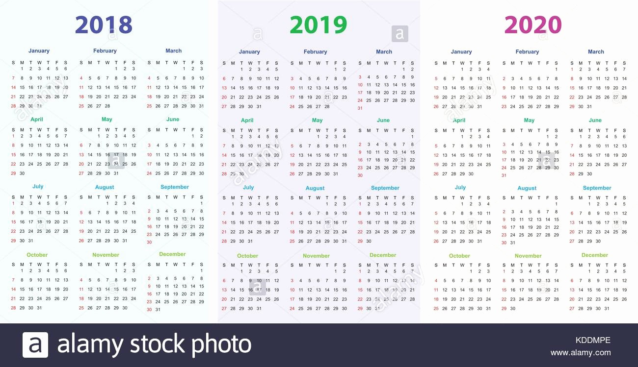 Printable Calendar 2018 and 2019 Best Of Printable Calendar Stock S & Printable Calendar Stock