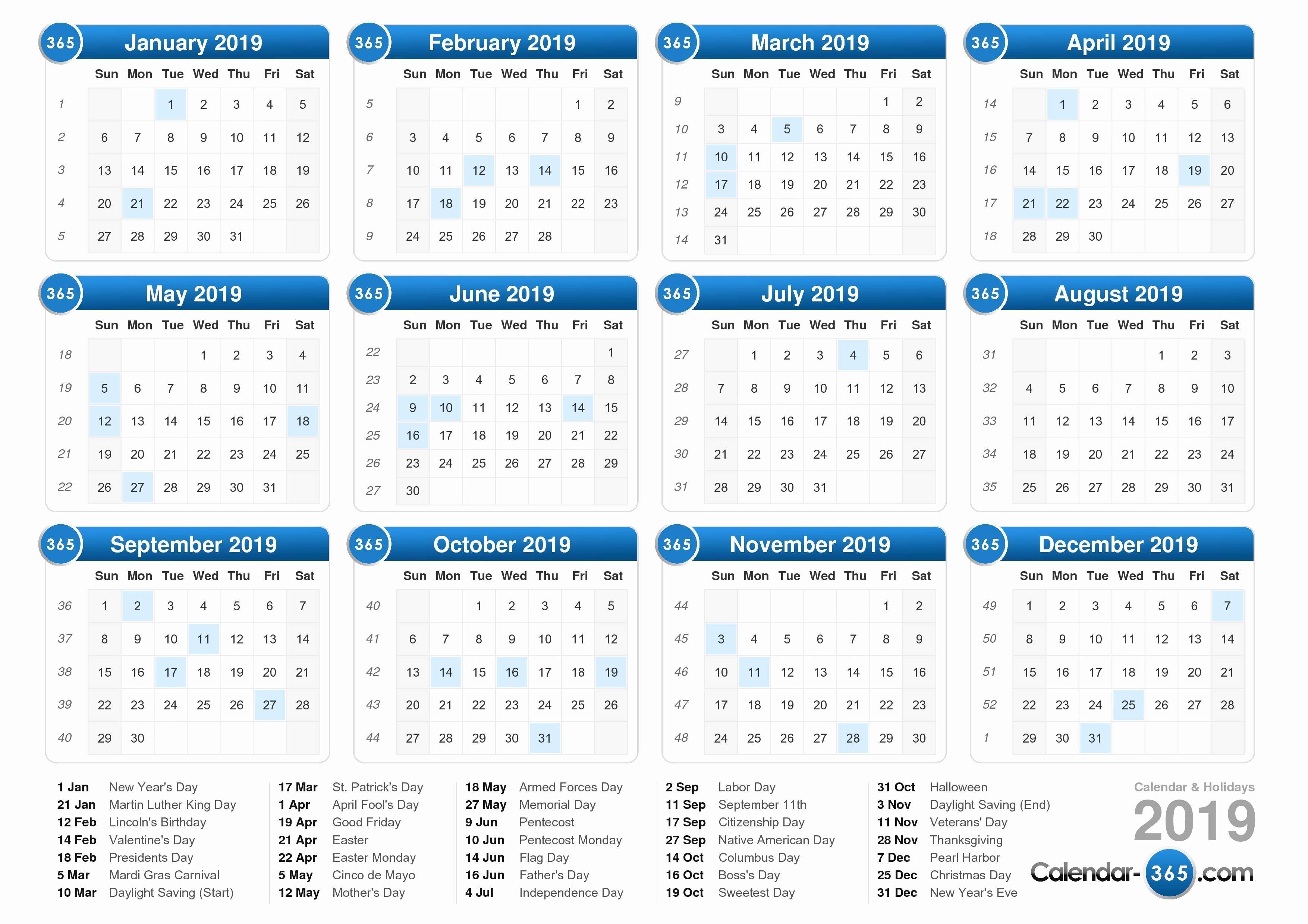 Printable Calendar 2018 and 2019 Fresh 2019 Calendar Printable