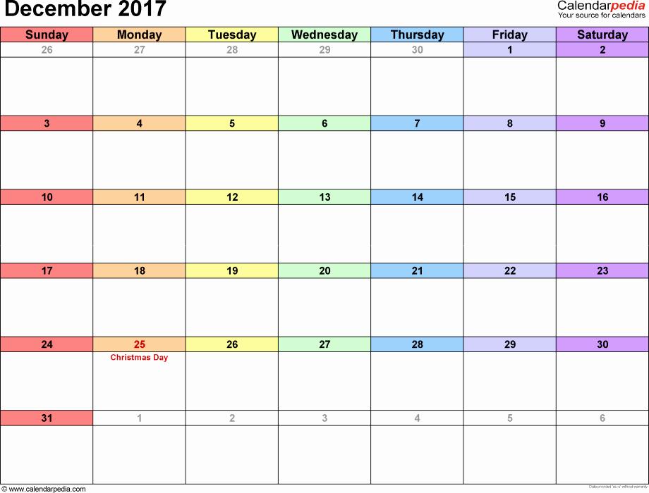 Printable Calendar December 2018 Landscape Best Of Printable Calendar December 2017 Landscape December 2017