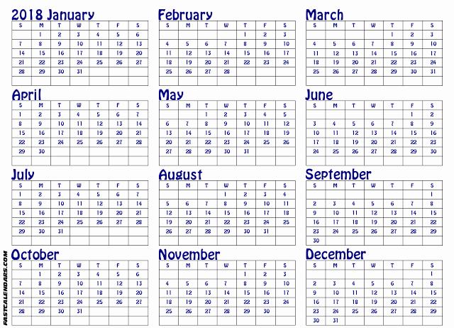 Printable Calendar December 2018 Landscape Inspirational Printable Calendar 2018 In Landscape format