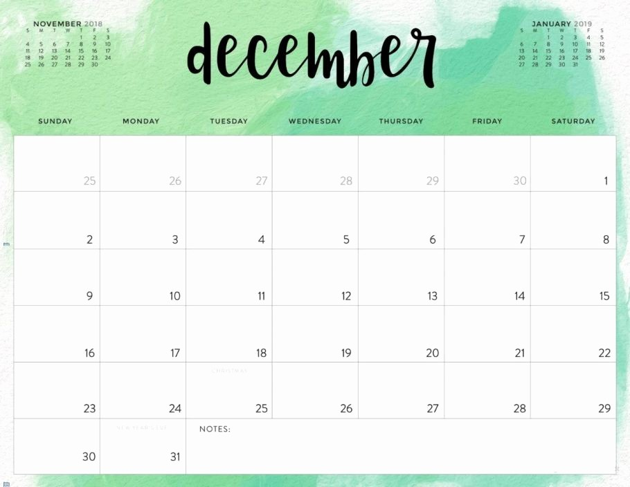Printable Calendar December 2018 Landscape Lovely Free December 2018 Printable Calendar Blank Templates