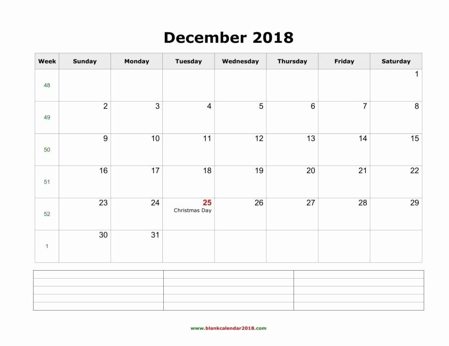 Printable Calendar December 2018 Landscape Luxury Free December 2018 Printable Calendar Blank Templates