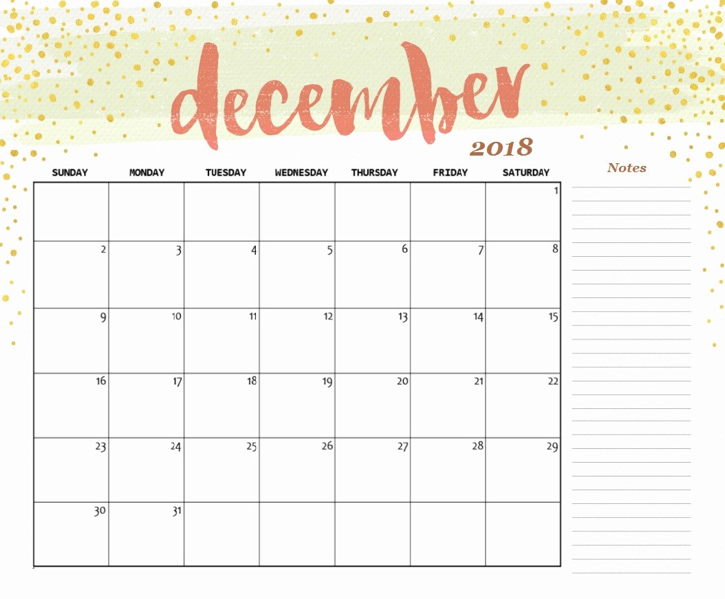 Printable Calendar December 2018 Landscape New Free Printable 2018 Desk Calendar