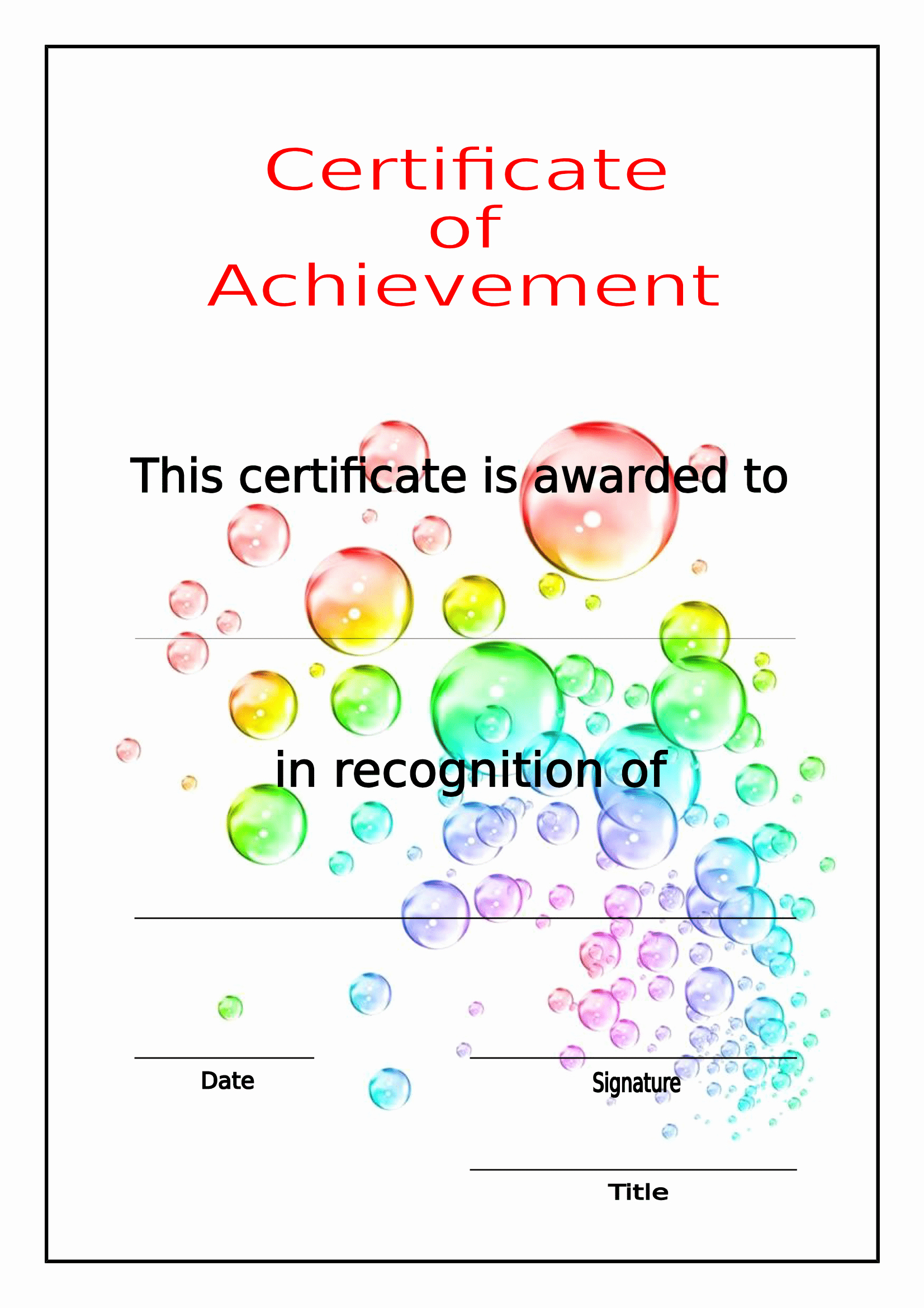 Printable Certificate Of Achievement Template Awesome Printable Certificate Of Achievement Free Download Template