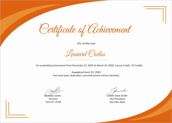 Printable Certificate Of Achievement Template Awesome Printable Certificate Template 35 Adobe Illustrator