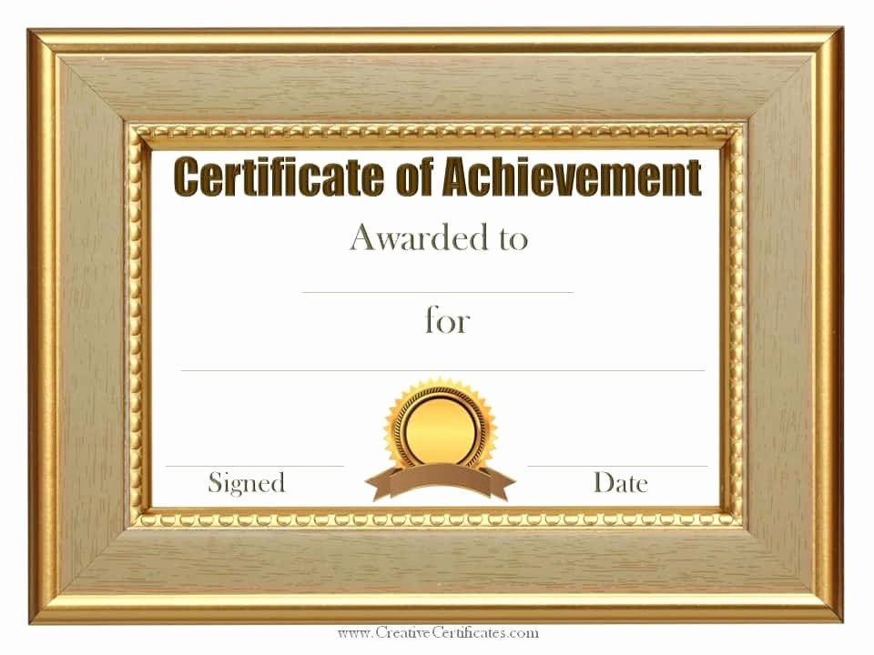 Printable Certificate Of Achievement Template Beautiful Free Customizable Certificate Of Achievement
