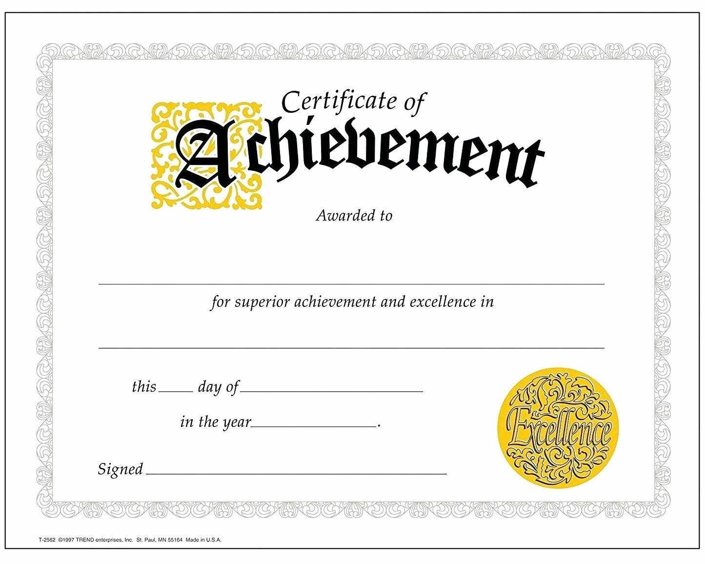 Printable Certificate Of Achievement Template Best Of Template Achievement Certificate Template