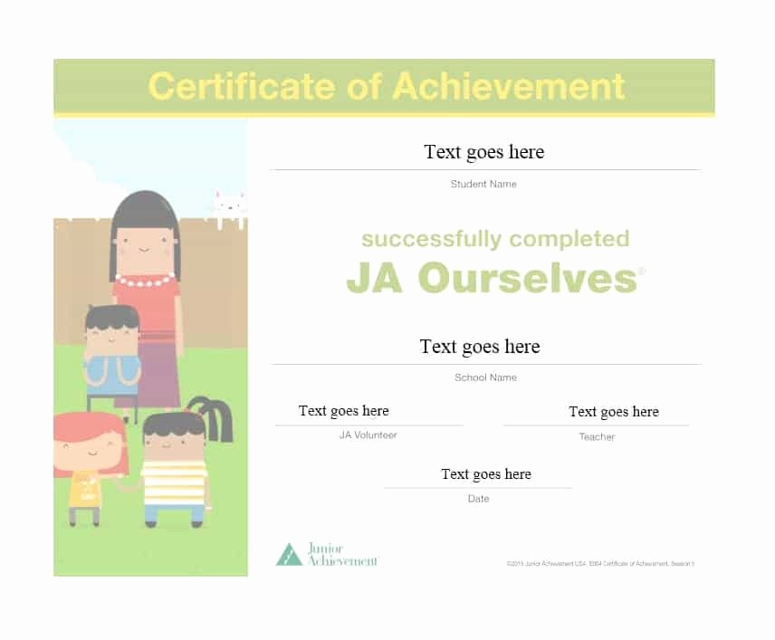 Printable Certificate Of Achievement Template Elegant 40 Great Certificate Of Achievement Templates Free