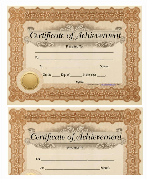 Printable Certificate Of Achievement Template Elegant Certificate Achievement Template 6 Free Pdf