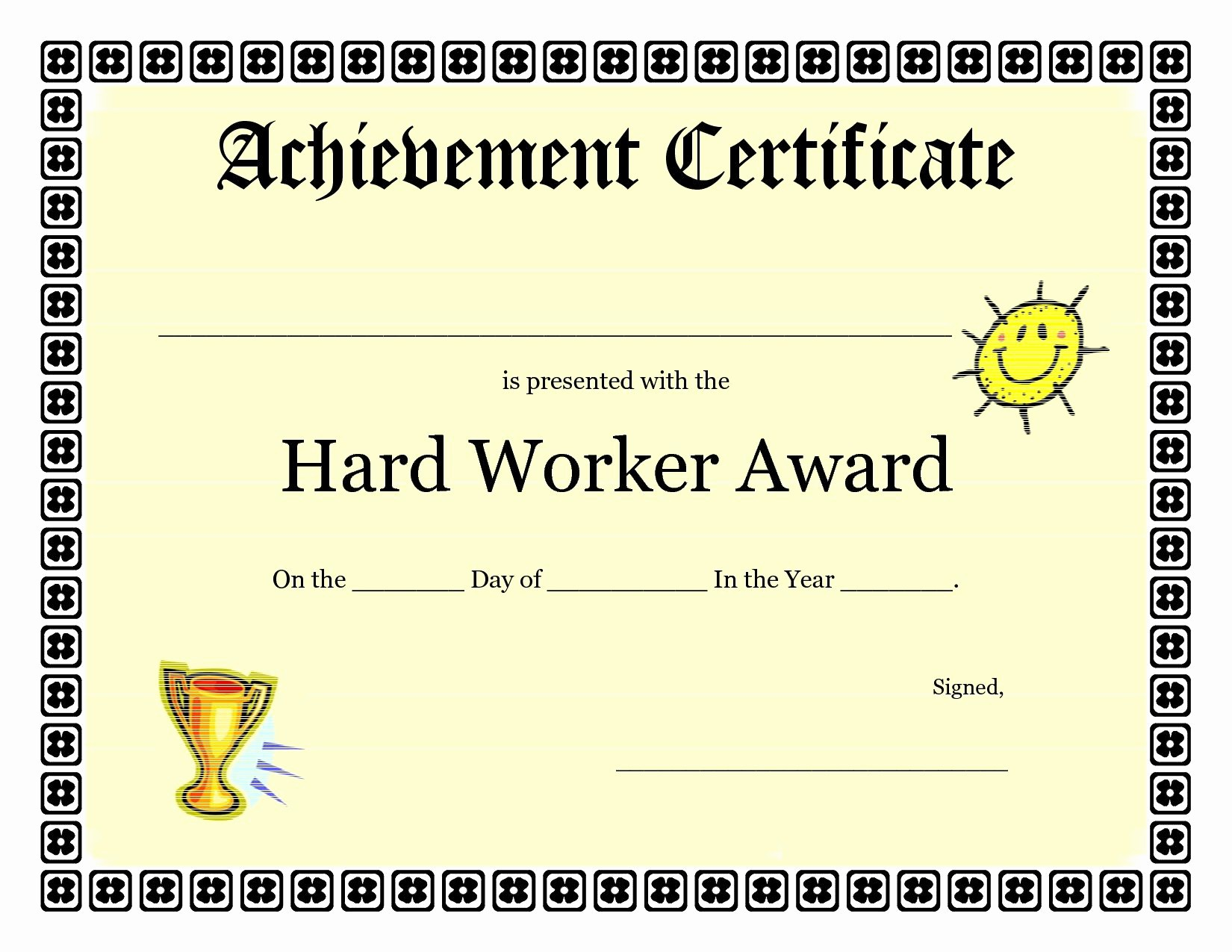 Printable Certificate Of Achievement Template Elegant Printable Achievement Certificates Kids