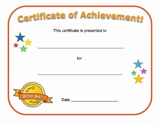 Printable Certificate Of Achievement Template Lovely Blank Certificates Google Search Church