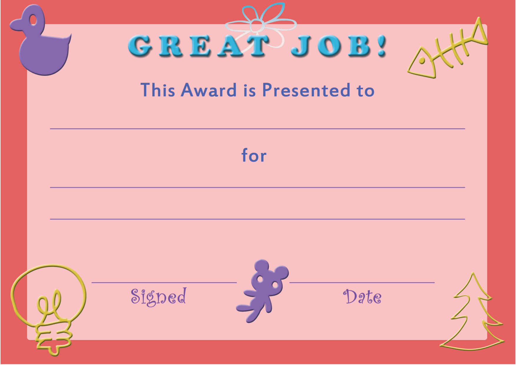 Printable Certificate Of Achievement Template Lovely Printable Template Certificate Achievement for Kids In