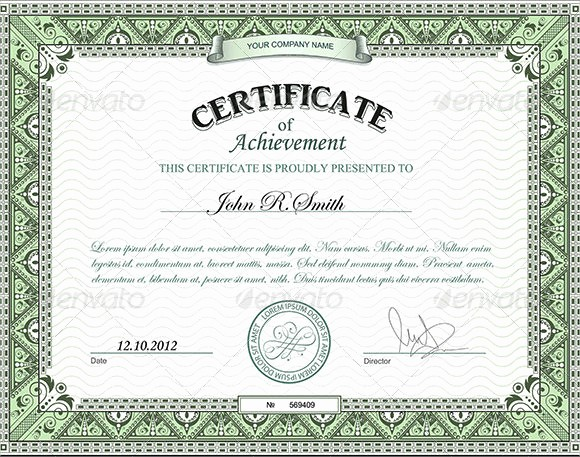 Printable Certificate Of Achievement Template Unique 9 Certificate Of Achievement Templates