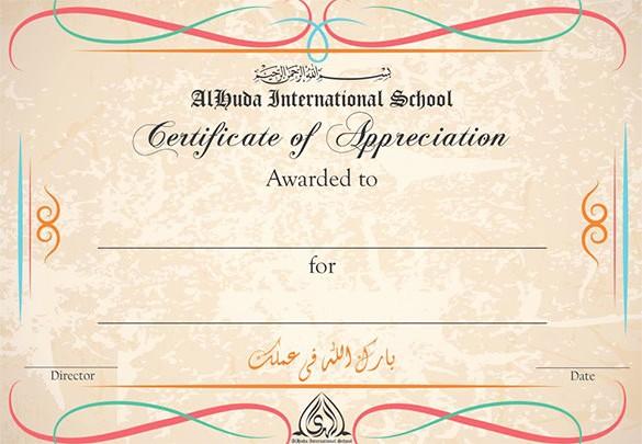 Printable Certificate Of Appreciation Template Elegant 29 Certificate Of Appreciation Templates Word Pdf Psd