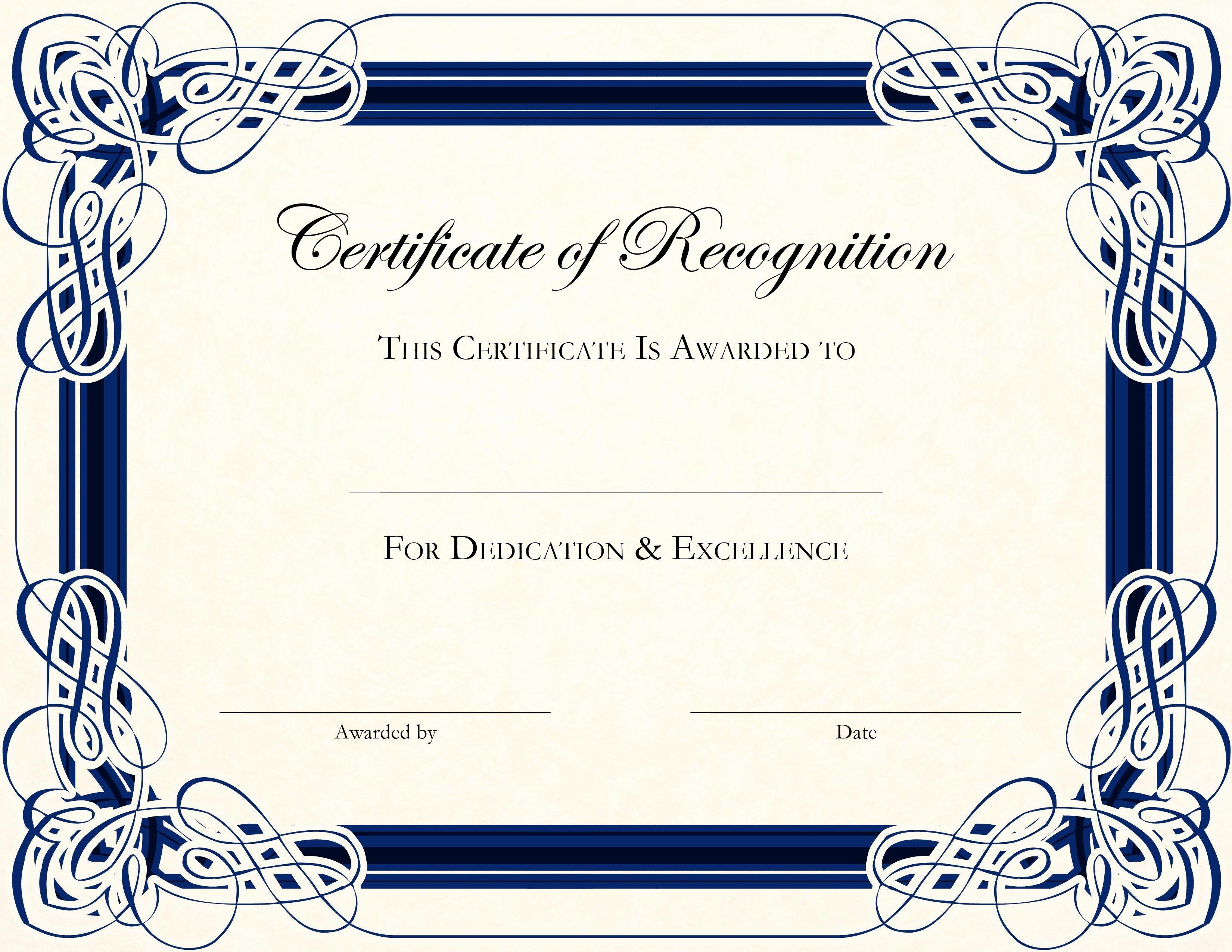 Printable Certificate Of Appreciation Template Fresh Free Printable Certificate Templates for Teachers