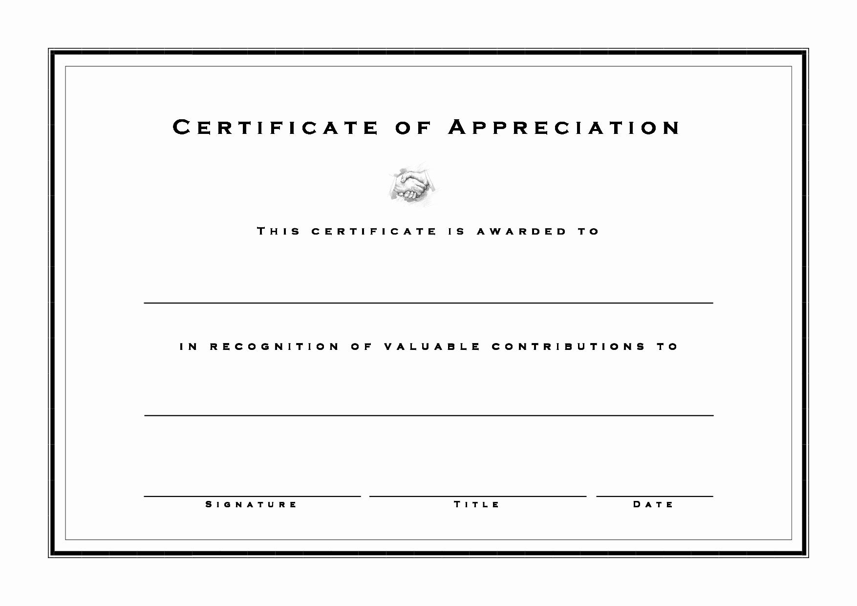 Printable Certificate Of Appreciation Template Inspirational Achievement Certificate Templates Free Mughals