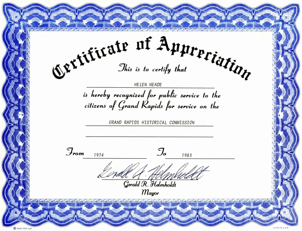 Printable Certificate Of Appreciation Template Lovely 6 Appreciation Certificate Templates