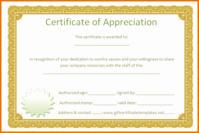 Printable Certificate Of Appreciation Template Unique 8 Free Printable Certificate Of Appreciationreference