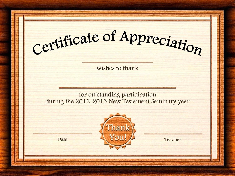 Printable Certificate Of Appreciation Template Unique Template Editable Certificate Appreciation Template