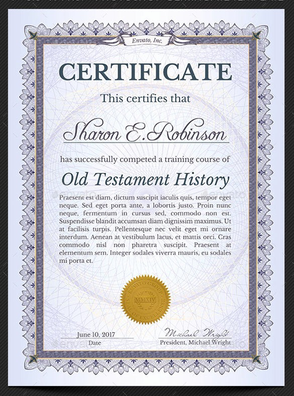 Printable Certificate Of Completion Template Awesome 15 Certificate Of Pletion Templates – Samples Examples