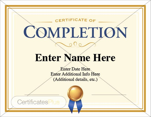 Printable Certificate Of Completion Template Elegant 38 Pletion Certificate Templates Free Word Pdf Psd