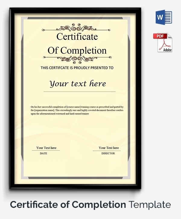 Printable Certificate Of Completion Template Elegant 52 Free Printable Certificate Template Examples In Pdf