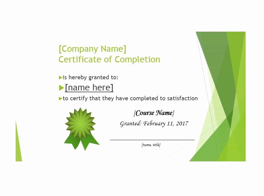Printable Certificate Of Completion Template Luxury 40 Fantastic Certificate Of Pletion Templates [word