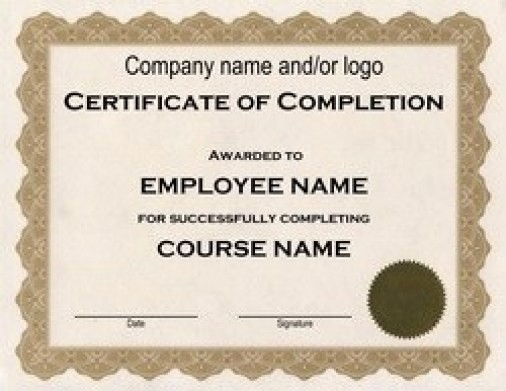 Printable Certificate Of Completion Template Unique 37 Free Certificate Of Pletion Templates In Word Excel Pdf