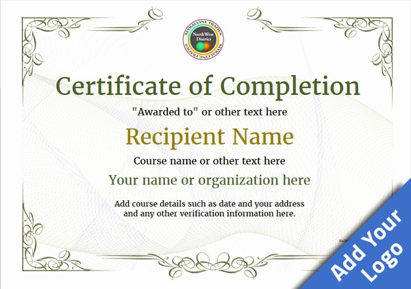 Printable Certificate Of Completion Template Unique Certificate Of Pletion Free Quality Printable