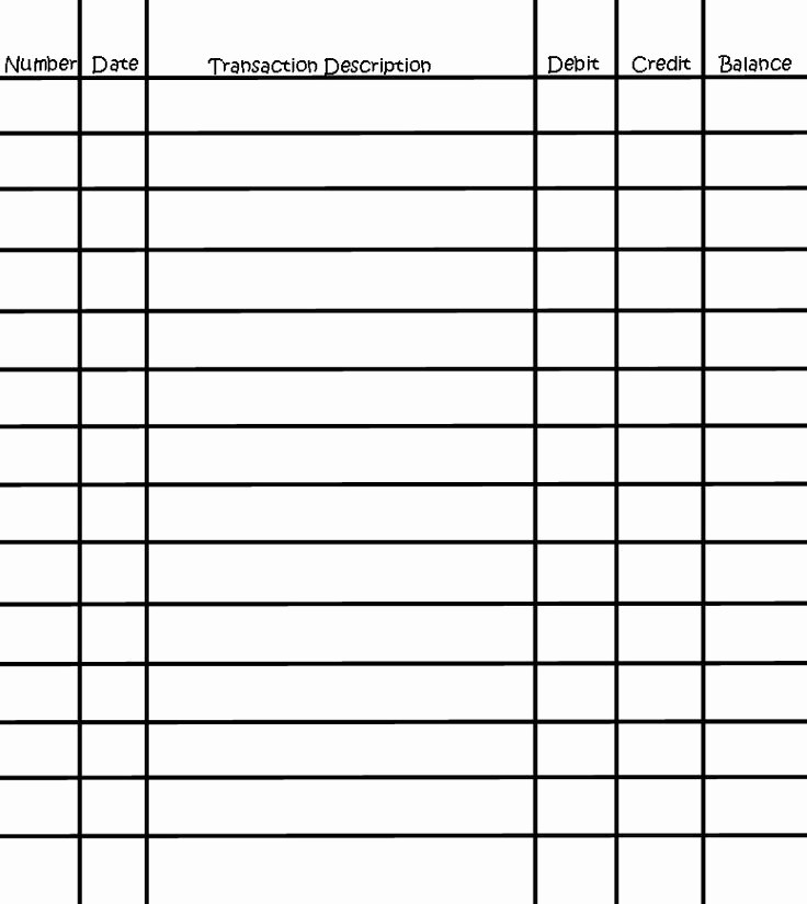 Printable Check Register Full Page Awesome Printable Full Page Check Register