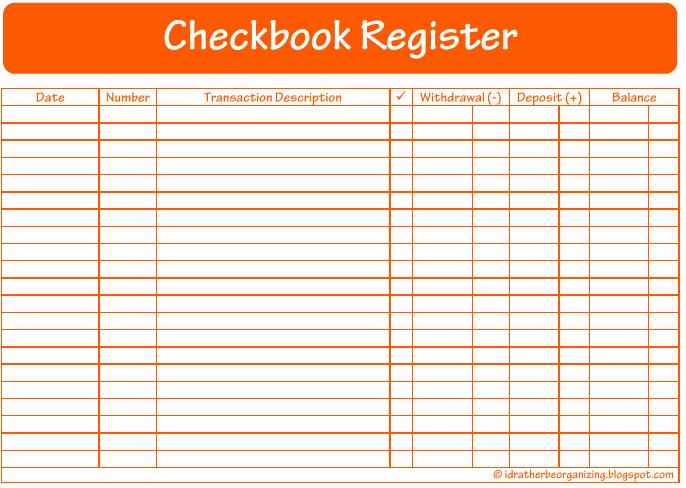 Printable Check Register Full Page Elegant Full Page Checkbook Register Printable