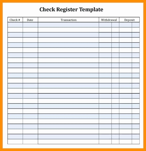 Printable Check Register Full Page Inspirational Checkbook Register Printable Check Full Page Pages