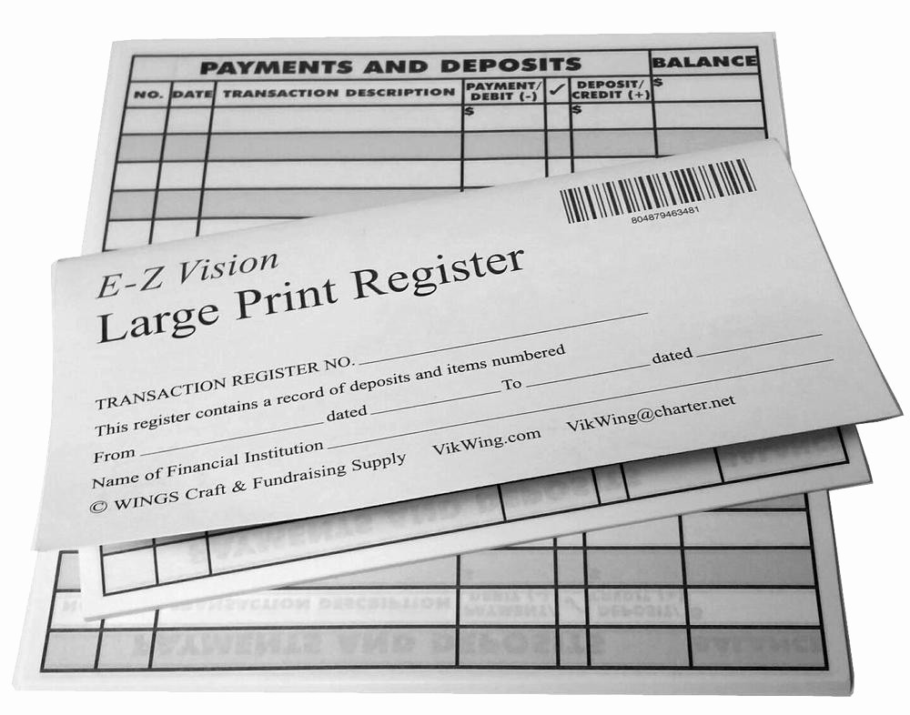 Printable Check Register Full Page Inspirational Clearance 6 Pk Print Checkbook Registers 2014 15 16