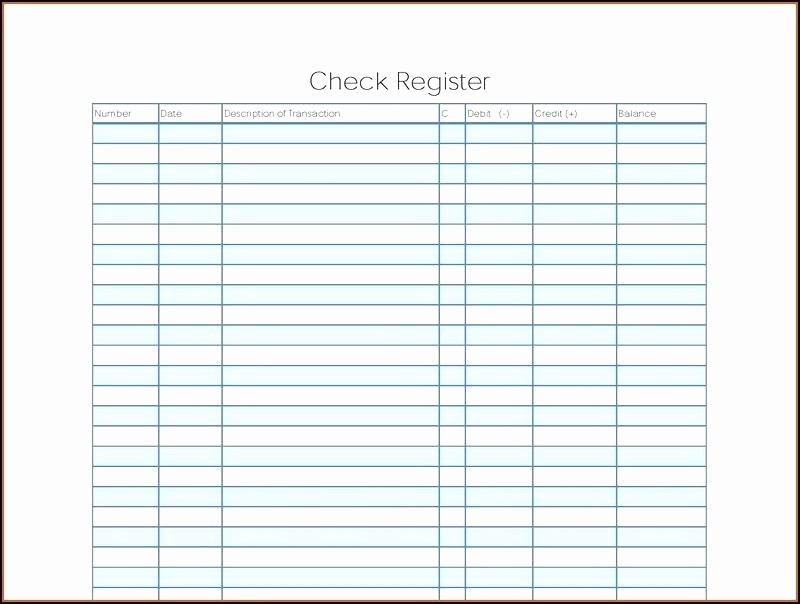 Printable Check Register Full Page New Checkbook Register Printable Check Full Page Pages