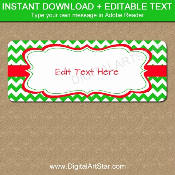 Printable Christmas Return Address Labels Awesome Editable Christmas Address Labels Printable Holiday