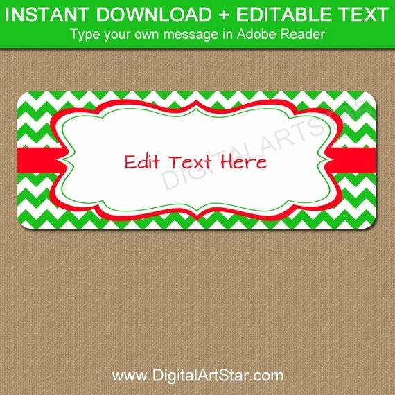 Printable Christmas Return Address Labels Awesome Editable Christmas Address Labels Printable Holiday