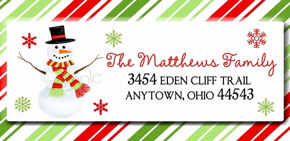 Printable Christmas Return Address Labels Beautiful Christmas Clip Art for Mailing Labels Clipart Collection