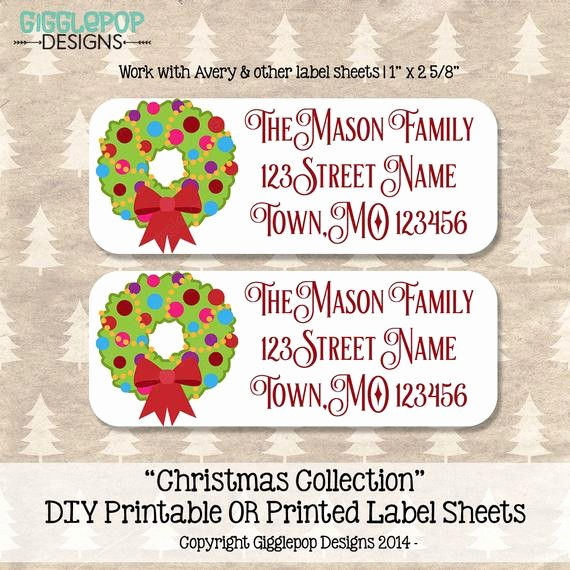 Printable Christmas Return Address Labels Best Of Christmas Return Address Label