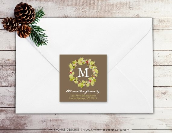 Printable Christmas Return Address Labels Elegant Printable Return Address Label Square Label Christmas