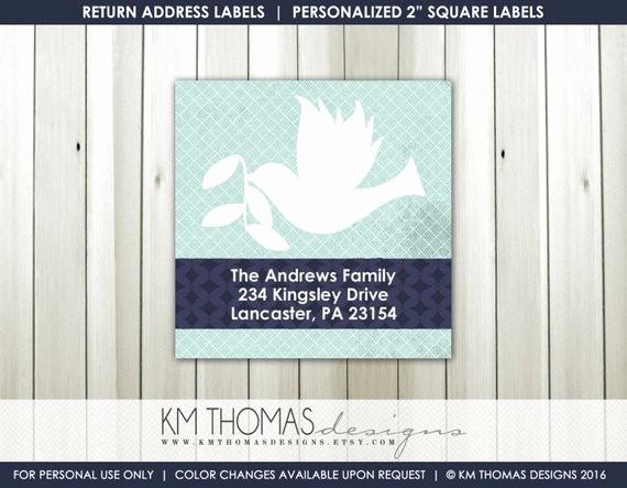 Printable Christmas Return Address Labels Elegant Printable Return Address Label Square Label Christmas