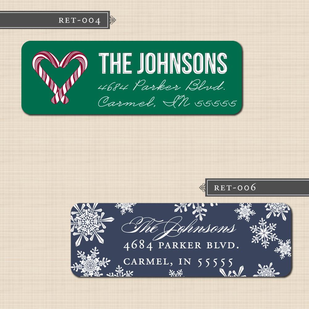 Printable Christmas Return Address Labels Fresh Belletristics Stationery Design and Inspiration for the